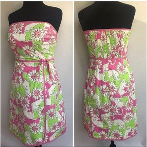 *LILLY PULITZER* French Fried Hibiscus Pink Dress